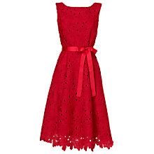 Buy Phase Eight Fabia Embroidered Fit and Flare Dress, Lipstick Online at johnlewis.com