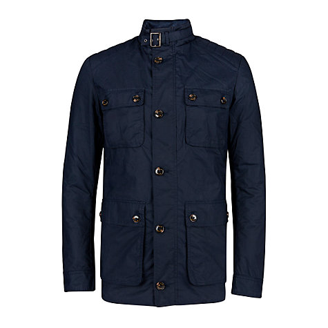 Buy Ted Baker Orynew Waxed Coat, Navy Online at johnlewis.com