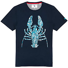 Buy Ted Baker Fantee Lobster Crew Neck T-Shirt, Navy Online at johnlewis.com