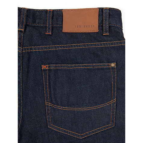 Buy Ted Baker Obsign Straight Leg Jeans, Rinse Denim Online at johnlewis.com