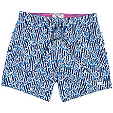 Buy Ted Baker Sadeson Floral Swim Shorts, Blue Online at johnlewis.com