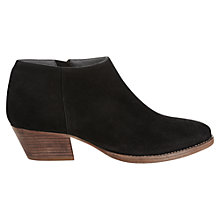Buy Jigsaw Slater Suede Ankle Boots, Black Online at johnlewis.com