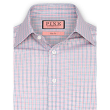 Buy Thomas Pink Lefroy Check Long Sleeve Shirt, Red/Blue Online at johnlewis.com