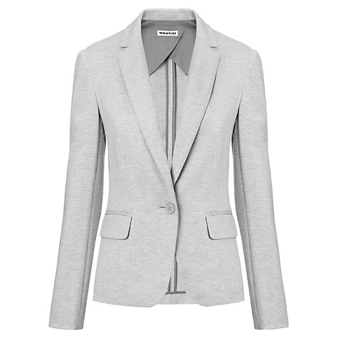 Buy Whistles Julia Ponte Blazer, Grey Online at johnlewis.com