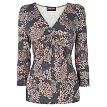 Buy Phase Eight Pagoda Print Top, Grey/Pink Online at johnlewis.com