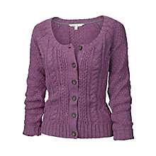 Buy Fat Face Kelsey Cardigan, Pansy Purple Online at johnlewis.com
