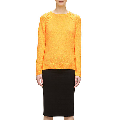 Buy Whistles Atlanta Neon Stitch Knit Jumper, Yellow Online at johnlewis.com