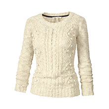 Buy Fat Face Lucy Bobble Cable Jumper Online at johnlewis.com