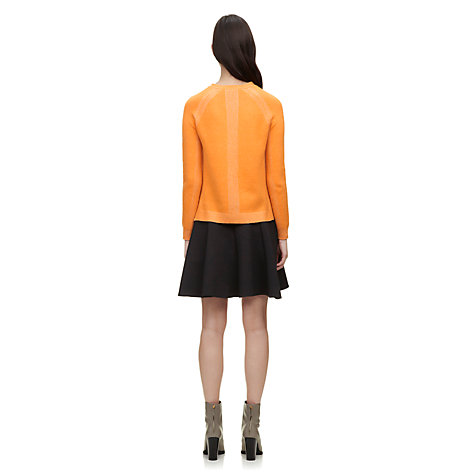 Buy Whistles Mimi Plaited Boxy Jumper, Orange Online at johnlewis.com