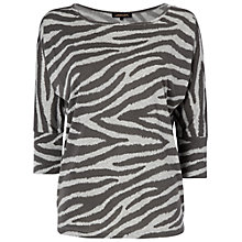 Buy Jaeger Zebra Print Top, Grey / Black Online at johnlewis.com