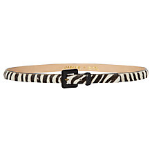 Buy Jaeger Zebra Print Calf Belt, Black / White Online at johnlewis.com