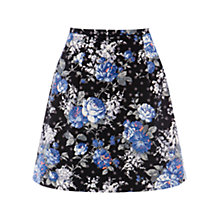 Buy Oasis Floral Chintz Print Skirt, Blue Multi Online at johnlewis.com