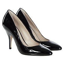 Buy Hobbs Iva Patent Leather Court Shoes, Black Online at johnlewis.com