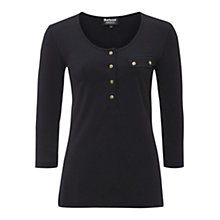 Buy Barbour Wylam Jersey Top, Black Online at johnlewis.com