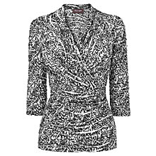 Buy Phase Eight Twiggy Alba Wrap, Black/White Online at johnlewis.com