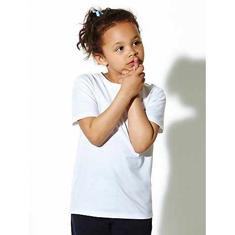 Buy John Lewis T-Shirt, Pack of 2, White Online at johnlewis.com