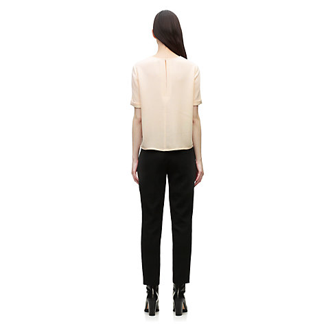 Buy Whistles Sabine Texture Crepe Top, Pink Online at johnlewis.com
