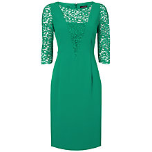 Buy Jaeger Lace and Crepe Dress, Jade Online at johnlewis.com