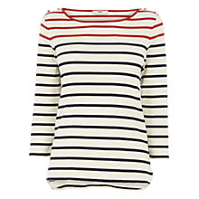 Buy Oasis Striped Breton Top, Multi Natural Online at johnlewis.com