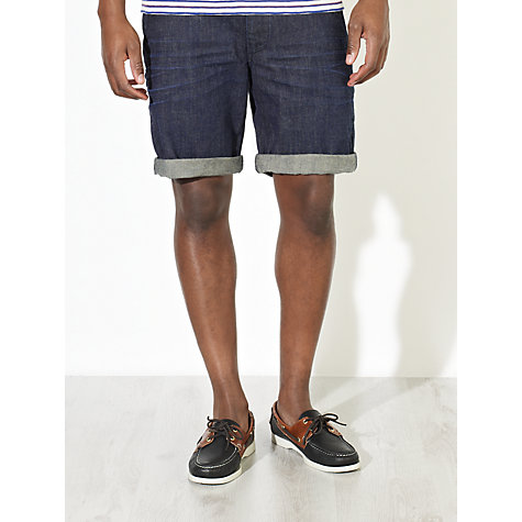 Buy JOHN LEWIS & Co. Slub Denim Shorts, Indigo Online at johnlewis.com