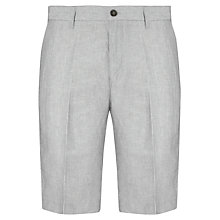 Buy John Lewis Stripe Linen Cotton Shorts, Navy Online at johnlewis.com