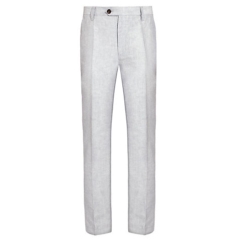 Buy John Lewis Stripe Linen Trousers, White/Navy Online at johnlewis.com