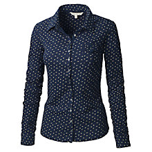 Buy Fat Face Ava Micro Geo Jersey Shirt Online at johnlewis.com