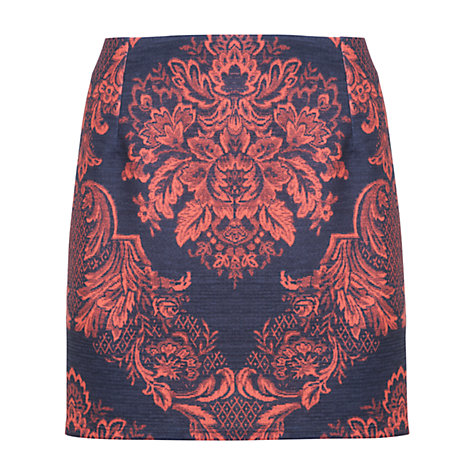 Buy Miss Selfridge Printed A-Line Skirt, Multi Online at johnlewis.com