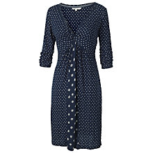 Buy Fat Face Ingrid Micro Geo Border Dress, Navy Online at johnlewis.com