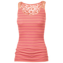 Buy Fat Face Lace Back Stripe Vest, Tea Rose Online at johnlewis.com