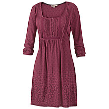 Buy Fat Face Jessica Geo Floral Dress, Rouge Online at johnlewis.com