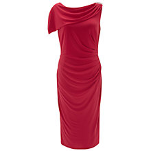 Buy Gina Bacconi Draped Jersey Dress, Tropical Red Online at johnlewis.com