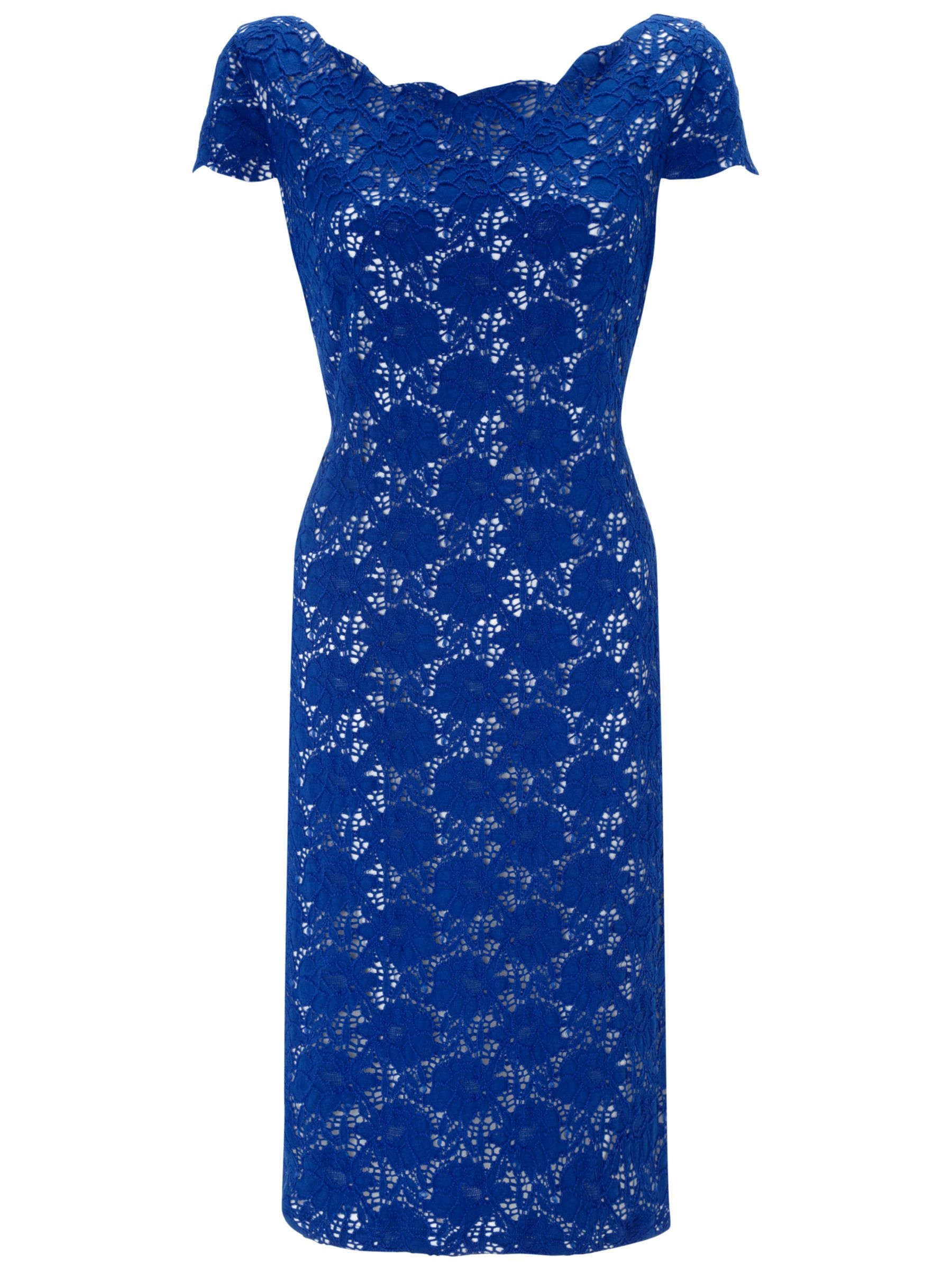 Gina Bacconi Lace Dress, Summer Blue