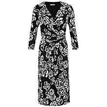 Buy Gina Bacconi Monochrome Floral Jersey Dress Online at johnlewis.com