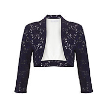 Buy Gina Bacconi Corded Lace Knit Bolero, Navy Online at johnlewis.com