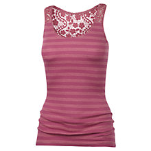 Buy Fat Face Lace Back Stripe Vest Online at johnlewis.com