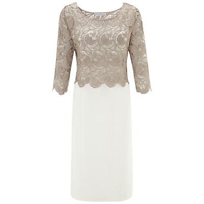 Gina Bacconi Crochet Dress, Beige