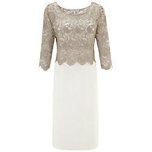 Buy Gina Bacconi Crochet Dress, Beige Online at johnlewis.com