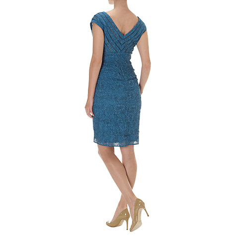 Buy Adrianna Papell Lace Shutter Dress, Peacock Online at johnlewis.com
