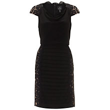 Buy Adrianna Papell Blouson Framed Lace Dress, Black Online at johnlewis.com