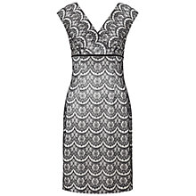 Buy Adrianna Papell Bonded Lace Crossover Dress, Black/Ivory Online at johnlewis.com