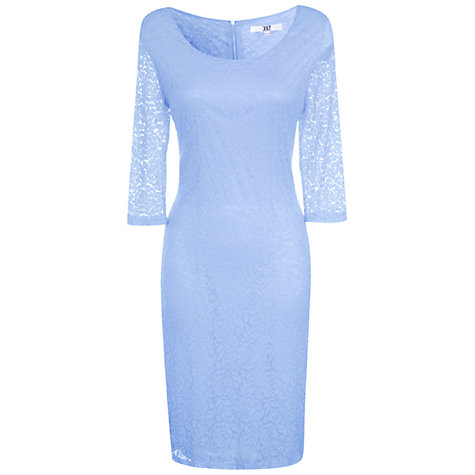 Buy True Decadence Lace Layer Midi Dress, Light Blue Online at johnlewis.com
