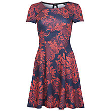 Buy Miss Selfridge Floral Print Dress, Multi Grey Online at johnlewis.com