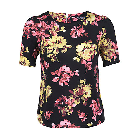 Buy Miss Selfridge Flower T-Shirt, Multi Navy Online at johnlewis.com