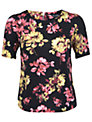 Miss Selfridge Flower T-Shirt, Multi Navy