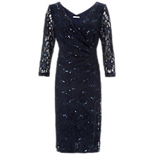 Buy Gina Bacconi Sequin Lace Dress, Navy/Silver Online at johnlewis.com