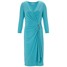 Buy Gina Bacconi Jersey Dress, Turquoise Online at johnlewis.com