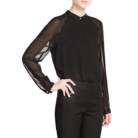 Buy Mango Chiffon Sleeve Blouse Online at johnlewis.com