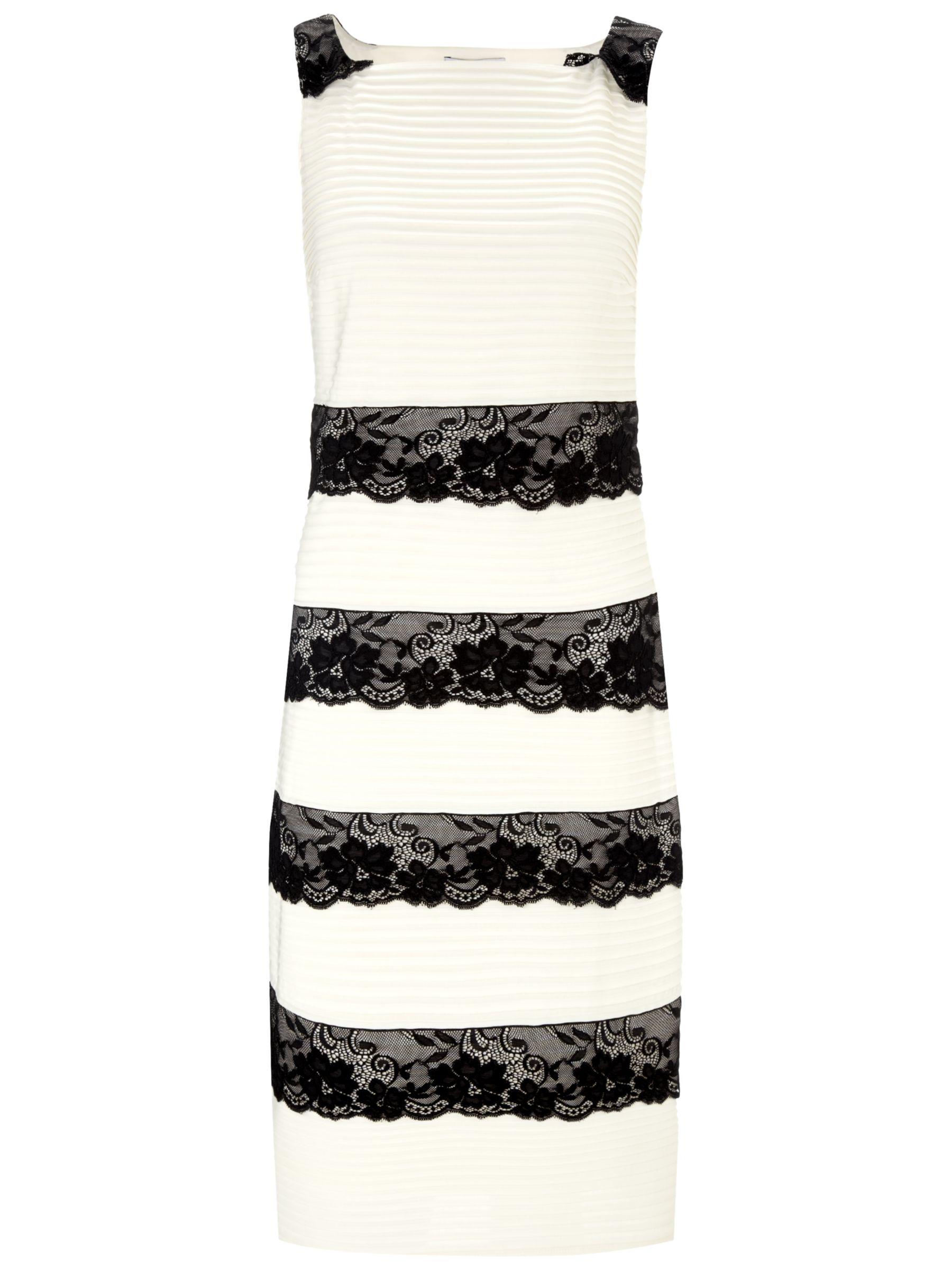 Gina Bacconi Tuck Jersey Dress, Light Chalk