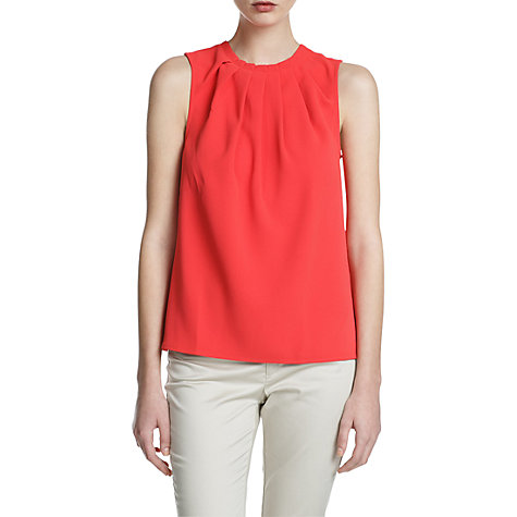 Buy Mango Pleated Neck Crepe Blouse Online at johnlewis.com